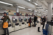 self-service machines, Sainsburys, Tottenham Court Rd. , 29 November 2018