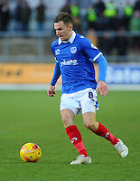 Portsmouth's Jed Wallace in action during todays match  <br /> <br /> Photographer Craig Thomas/CameraSport<br /> <br /> Football - The Football League Sky Bet League Two - Newport County AFC v Portsmouth - Saturday 10th January 2015 - Rodney Parade - Newport<br /> <br /> © CameraSport - 43 Linden Ave. Countesthorpe. Leicester. England. LE8 5PG - Tel: +44 (0) 116 277 4147 - admin@camerasport.com - www.camerasport.com