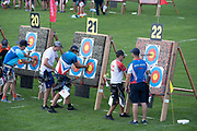 Archery qualifications at the Olympic Sports Complex during the Minsk 2019 European Games on the 21st June 2019 in Minsk, Belarus.