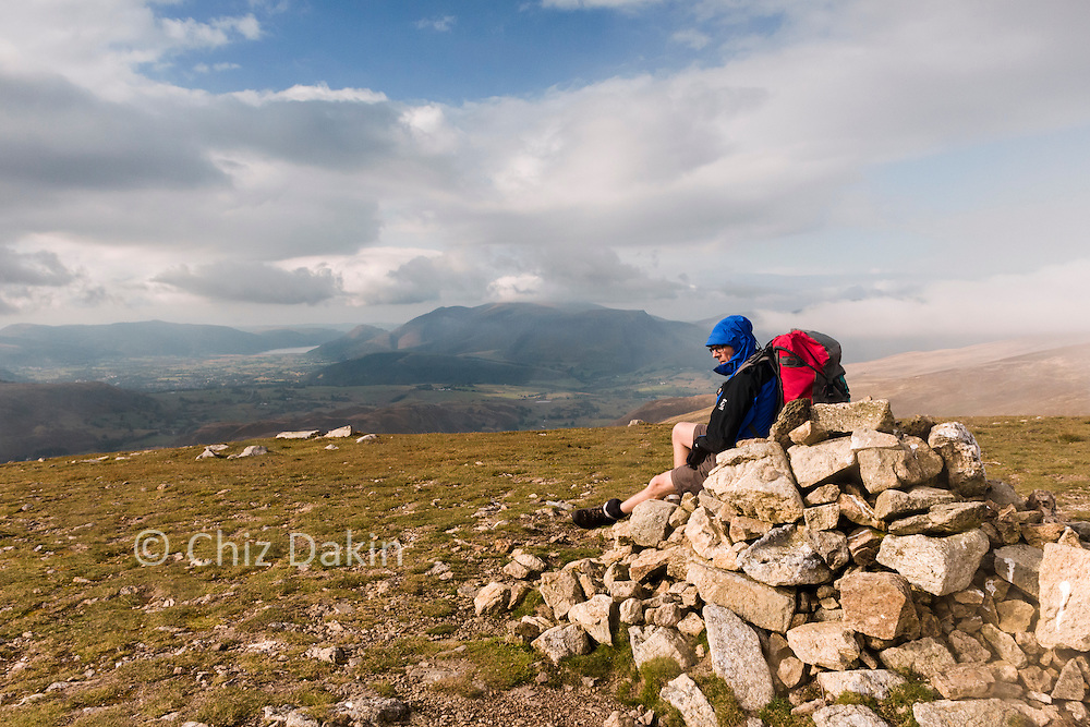 The Summit Cairn Watson's Dodd provides a small respite from a biting wind