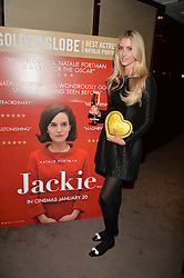 Zoe Onions at a private screening of Jackie hosted by Rosie Nixon and Tabitha Webb at the Bulgari Hotel, 171 Knightsbridge, London,  England. 12 January 2017.