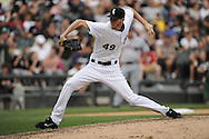 CHICAGO - SEPTEMBER 10:  Chris Sale #49 of the Chicago White Sox pitches against the Cleveland Indians on September 10, 2011 at U.S. Cellular Field in Chicago, Illinois.  The White Sox defeated the Indians 7-3.  (Photo by Ron Vesely)   Subject: Chris Sale