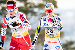 March 10, 2019 - Oslo, NORWAY - 190310 Emma Ribom of Sweden competes in the women's 30 km classic technique mass start during the FIS World Cup on March 10, 2019 in Oslo..Photo: Jon Olav Nesvold / BILDBYRÃ…N / kod JE / 160424 (Credit Image: © Jon Olav Nesvold/Bildbyran via ZUMA Press)