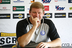 August 2, 2017 - Innsbruck, Autriche - INNSBRUCK , AUSTRIA - AUGUST 02 :   Hein Vanhaezebrouck Headcoach of KAA Gent and Nana Asare Akwasi defender of KAA Gent pictured during the press conference and training of Kaa Gent the day before the second leg of the third qualifying round for the UEFA Europa League competition match between Sc Rheindorf Altach and Kaa Gent on August 02, 2017 in Innsbruck, Austria 02/08/2017 (Credit Image: © Panoramic via ZUMA Press)