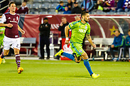 Former United States Men's National Team captain Clint Dempsey, pictured here during a game between the Seattle Sounders and Colorado Rapids in 2015, announced his retirement from pro soccer on Wednesday, August 29, 2018.
