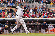 David Ortiz #34 of the Boston Red Sox bats against the Minnesota Twins on May 17, 2013 at Target Field in Minneapolis, Minnesota.  The Red Sox defeated the Twins 3 to 2.  Photo: Ben Krause