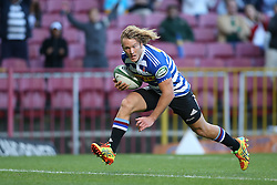 Werner Kok of Western Province heads for the try line to score during the Currie Cup Premier Division match between the DHL Western Province and the Sharks held at the DHL Newlands Rugby Stadium in Cape Town, South Africa on the 3rd September  2016<br /> <br /> Photo by: Shaun Roy / RealTime Images