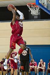 13-03-2011 BASKETBAL: HEREN ALL STAR GALA: ZWOLLE<br /> Brian Laing USA (Magixx Nijmegen), dunk<br /> ©2011-WWW.FOTOHOOGENDOORN.NL / Peter Schalk