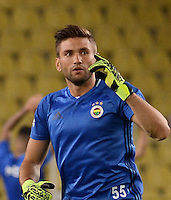 UEFA Champions League Third qualifying round first leg match between Fenerbahce Istanbul and Monaco on July 27, 2016 at the Ulker Stadium in Istanbul,Turkey.<br /> Final Score : Fenerbahce 2 - Monaco 1<br /> Pictured: Goalkeeper Ertugrul Taskiran of Fenerbahce .