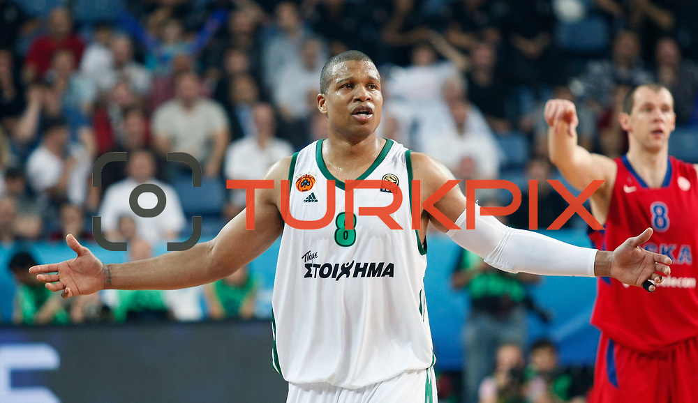 Panathinaikos's Mike Batiste during their Euroleague Final Four semifinal Game 1 basketball match CSKA Moscow's between Panathinaikos at the Sinan Erdem Arena in Istanbul at Turkey on Friday, May, 11, 2012. Photo by TURKPIX