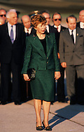 Raisa Gorbachev photographed at an arrival ceremony at Andrews Air Force Base  at  the Washington summit in May 1990..Photograph by Dennis Brack bb24