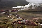 Iceland geothermal plant near Namafjall Hverir