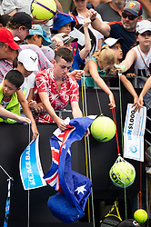 January 11, 2019 - Sydney, NSW, U.S. - SYDNEY, AUSTRALIA - JANUARY 11: Australian fans at The Sydney International Tennis on January 11, 2018, at Sydney Olympic Park Tennis Centre in Homebush, Australia. (Photo by Speed Media/Icon Sportswire) (Credit Image: © Steven Markham/Icon SMI via ZUMA Press)