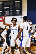 NORTH AUGUSTA, SC. July 10, 2019. Rondel Walker 2020 #0 of Texas Titans 17u excited at Nike Peach Jam in North Augusta, SC. <br /> NOTE TO USER: Mandatory Copyright Notice: Photo by Alex Woodhouse / Jon Lopez Creative / Nike