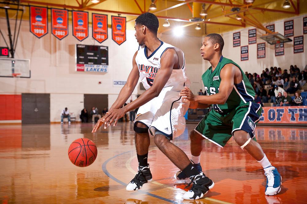 Feb 25, 2012; Morrow, GA, USA; Men's team against GCSU at CSU gym. (Photos by Kevin Liles/kdlphoto.com)