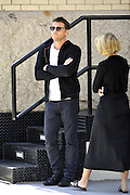 Sept. 10, 2014 - New York City, NY, United States - <br /> <br /> Actor Sam Worthington and his girlfriend Lara Bingle take a stroll in Tribeca on September 10 2014 in New York City<br /> ©Exclusivepix