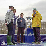 """Putney. London.  2004 University Boat Race,  Championships Course, Putney to Mortlake. <br /> """"The Toss'  Cambridge and Oxford .  [Mandatory Credit Peter SPURRIER]"""