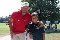 Gerhard Unterluggauer with his son at Anze's Eleven and Triglav Charity Golf Tournament, on June 30, 2012 in Golf court Bled, Slovenia. (Photo by Matic Klansek Velej / Sportida)