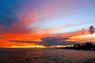 Kauai Sunset, brilliant colors at the end of a great day