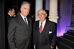 Left to right, PIERO FERRARI the second and only living son of Enzo Ferrari and JACK HEUER the great grandson of the founder of Tag Heuer at the Motor Sport magazine's 2013 Hall of Fame awards at The Royal Opera House, London on 25th February 2013.