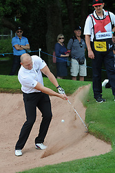 © Licensed to London News Pictures. 01/07/2017. London, UK, Former England rugby International Mike Tindall in a bunker during The 2017 Celebrity Cup golf tournament at the Celtic Manor Resort, Newport, South Wales. Photo credit: Jeff Thomas/LNP