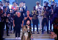 Men's Fashion Week, Dolce Gabbana Fashion Show. 13 Jan 2018 Pictured: Men's Fashion Week, Dolce Gabbana Fashion Show Domenico Dolce E Stefano Gabbana. Photo credit: Fotogramma / MEGA TheMegaAgency.com +1 888 505 6342