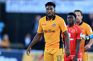 Marlon Jackson of Newport county looks on. EFL cup, 1st round match, Newport county v Milton Keynes Dons at Rodney Parade in Newport, South Wales on Tuesday 9th August 2016.<br /> pic by Andrew Orchard, Andrew Orchard sports photography.