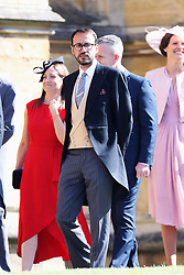 Prince William's private secretary, Miguel Head arrives at St George's Chapel at Windsor Castle for the wedding of Meghan Markle and Prince Harry.