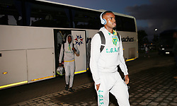 17032018 (Durban) Golden Arrows players leaving the bus before their match against Orlando Pirates at Princess Magogo stadium<br /> Picture: Motshwari Mofokeng/African News Agency/ANA