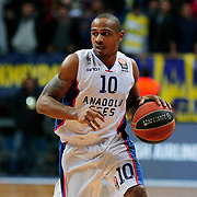 Anadolu Efes's Dontaye Draper during their Turkish Airlines Euroleague Basketball Top 16 Round 14 match Fenerbahce Ulker between Anadolu Efes at the Ulker Sports Arena in Istanbul, Turkey, Thursday 09 April, 2015. Photo by Aykut AKICI/TURKPIX
