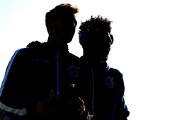Tom Lockyer and Ellis Harrison of Bristol Rovers arrive at The Cherry Red Records Stadium, for the game against AFC Wimbledon - Mandatory by-line: Robbie Stephenson/JMP - 17/02/2018 - FOOTBALL - Cherry Red Records Stadium - Kingston upon Thames, England - AFC Wimbledon v Bristol Rovers - Sky Bet League One