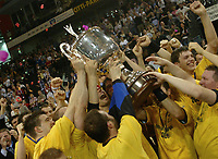 Håndball,<br /> Handball Champions League Finale <br /> Flensburg Handewitt - Pivovarna Celje<br /> Jubel Celje <br /> Foto: Digitalsport