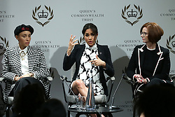 March 8, 2019 - London, London, United Kingdom - Image licensed to i-Images Picture Agency. 08/03/2019. London, United Kingdom. Meghan Markle , The  Duchess of Sussex takes part in a panel discussion in London, convened by the Queen's Commonwealth Trust to mark International Women's Day  (Credit Image: © Pool/i-Images via ZUMA Press)