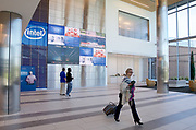 The main lobby of Intel's RA4 building, opened last fall to provide support for tech company's new D1X research production facility on the Ronler Acres campus in Hillsboro. Randy L. Rasmussen/Staff