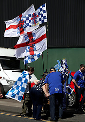 Fans make their way to the St Andrew's Stadium ahead of the Sky Bet Championship match against Fulham