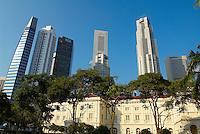 Singapour. Boat Quay et le Busness center. // Singapore. Boat Quay and Busness center.