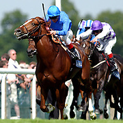 Frankie Dettori rides Grandera to victory in The Prince of Wales's Stakes