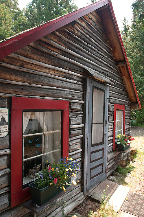 Cabin headquarters of wolf and moose researchers at Isle Royale National Park.