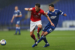 Andre Dozzell of Ipswich Town tackles Perry Ng of Crewe Alexandra - Mandatory by-line: Arron Gent/JMP - 31/10/2020 - FOOTBALL - Portman Road - Ipswich, England - Ipswich Town v Crewe Alexandra - Sky Bet League One