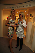 Wendy Knatchbull and Victoria Stewart, Gala champagne reception and dinner in aid of CLIC Sargent.  Grosvenor House Art and Antiques Fair.  Grosvenor House. Park Lane. London. 14 June 2006. ONE TIME USE ONLY - DO NOT ARCHIVE  © Copyright Photograph by Dafydd Jones 66 Stockwell Park Rd. London SW9 0DA Tel 020 7733 0108 www.dafjones.com