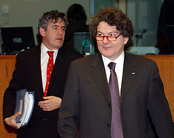BRUSSELS, BELGIUM - MARCH-08-2005 - Thierry Breton, France's finance minister attends the ECOFIN conference, a meeting of  European Union finance and economic ministers, in Brussels.