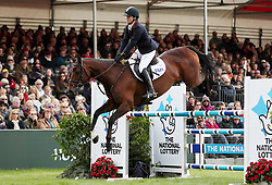 Piggy French on her way to victory on Vanir Kamira during day four of the 2019 Mitsubishi Motors Badminton Horse Trials at The Badminton Estate, Gloucestershire.