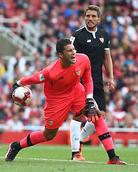 July 30, 2017 - London, England, United Kingdom - David Soria of Sevilla FC between Arsenal  against Savilla FC   at The Emirates Stadium in north London on July 30, 2017, the game is one of four matches played over two days for the Emirates Cup. (Credit Image: © Kieran Galvin/NurPhoto via ZUMA Press)
