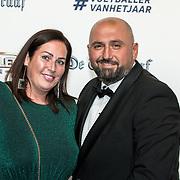 NLD/Hilversum/20190902 - Voetballer van het jaar gala 2019, Ali Dursun en partner
