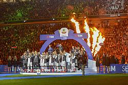 May 19, 2019 - Turin, Turin, Italy - Juventus FC players celebrate the trophy of Scudetto  2018-2019 at Allianz Stadium, Turin  (Credit Image: © Antonio Polia/Pacific Press via ZUMA Wire)