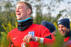November 13, 2017 - Enfield, Greater London, United Kingdom - England's Joe Hart arrives for training in good heart during a England training session ahead of the International Friendly match against Brazil at Tottenham Hotspur Training centre on 13 Nov , 2017 in Enfield, England. (Credit Image: © Kieran Galvin/NurPhoto via ZUMA Press)