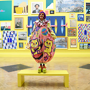 British artist Grayson Perry poses during the media preview of Summer Exhibition at the Royal Academy of Arts in London, Britain 05 June 2018. The Royal Academy of Arts Summer Exhibition is in its 250th year. The open exhibition displays over one thousand works and was co-ordinated by British Artist Grayson Perry