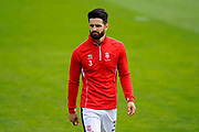 Samuel Habergham (3) of Lincoln City warming up before the EFL Sky Bet League 2 match between Exeter City and Lincoln City at St James' Park, Exeter, England on 19 August 2017. Photo by Graham Hunt.