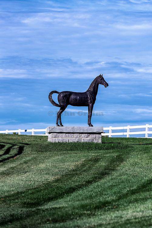Pineland Farms Equestrian Center, New Gloucester, Maine, USA.