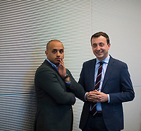 DEU, Deutschland, Germany, Berlin, 09.09.2019: CDU-Generalsekretär Paul Ziemiak mit seinem Büroleiter Younes Ouaqasse (L) vor Beginn der Fraktionssitzung der CDU/CSU.